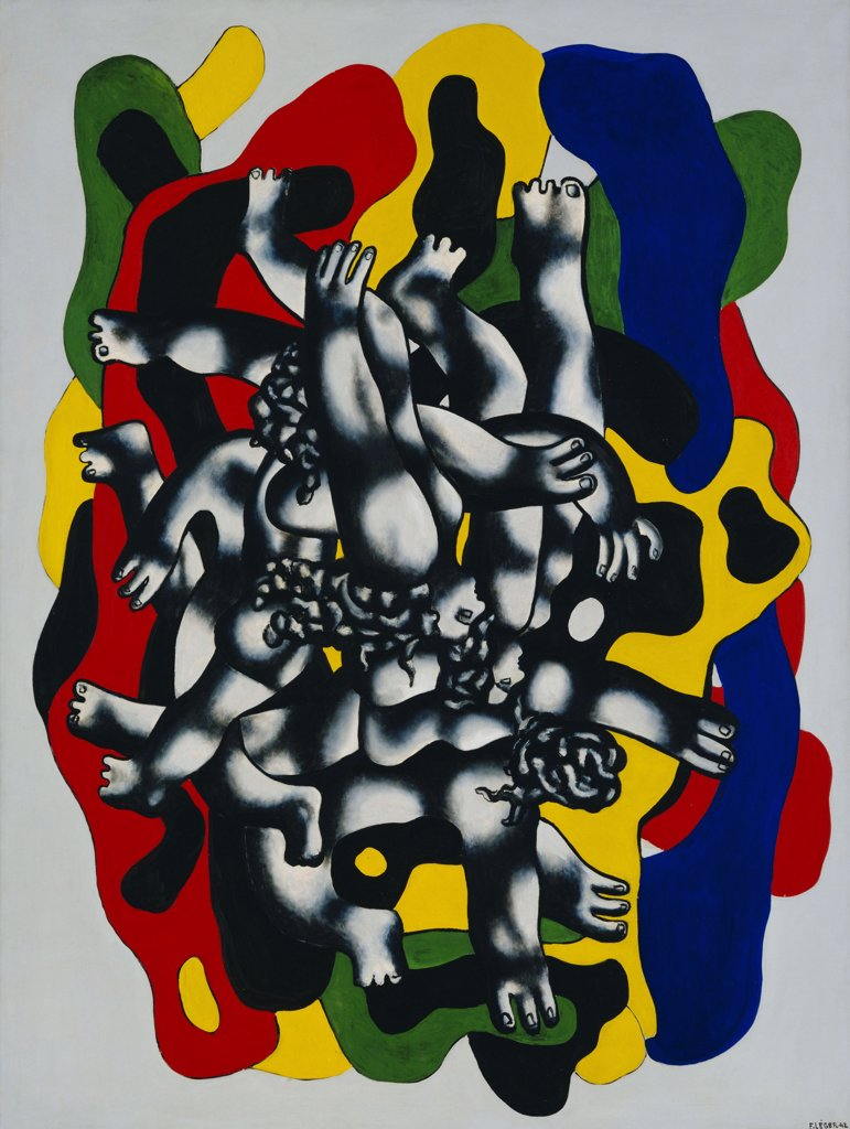 Leger, Fernand (1881-1955) © Museum of Modern Art, New York 1942 228,6x172 Oil on canvas Cubism France  : Stock Photo
