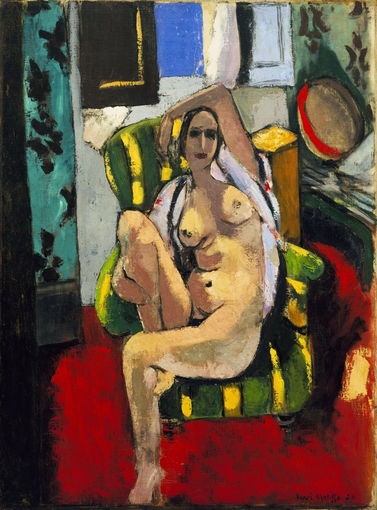 Stock Photo: 4266-6706 Matisse, Henri (1869-1954) © Museum of Modern Art, New York 1925-1926 74,3x55,6 Oil on canvas Fauvism France Architecture, Interior ,Nude