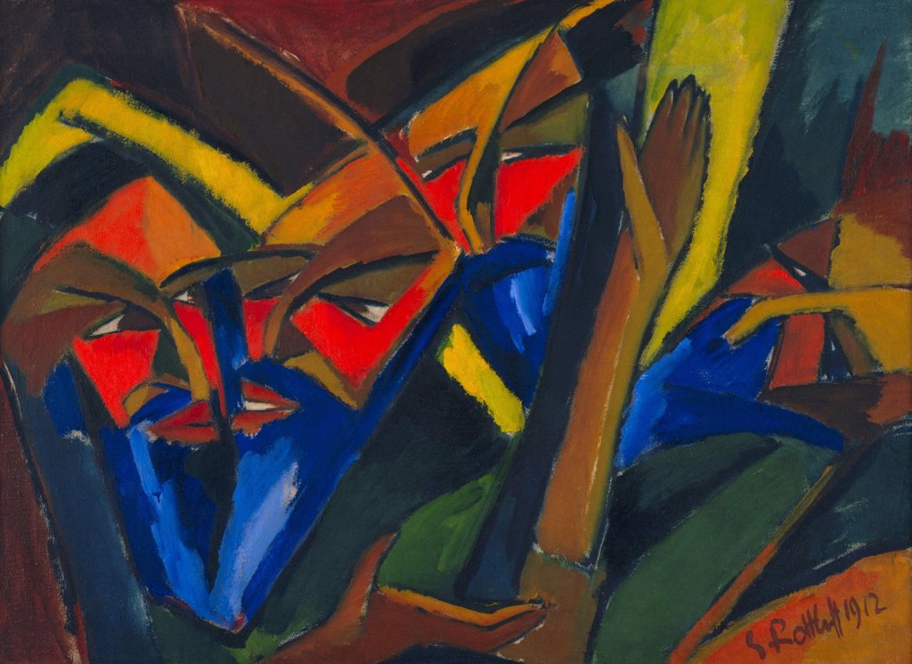 Schmidt-Rottluff, Karl (1884-1976) © Museum of Modern Art, New York 1912 75,9x102,9 Oil on canvas Expressionism Germany Bible,Mythology, Allegory and Literature  : Stock Photo