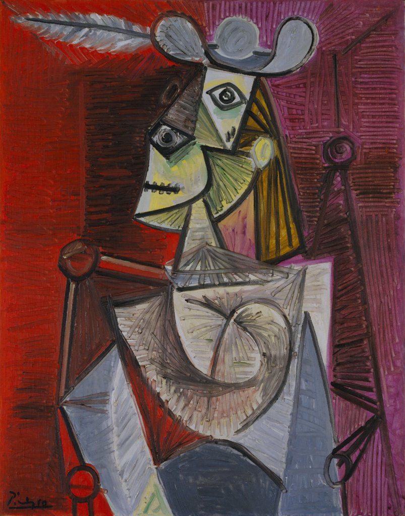 Stock Photo: 4266-6774 Picasso, Pablo (1881-1973) © Museum of Modern Art, New York 1941 92,4x73,6 Oil on canvas Cubism Spain