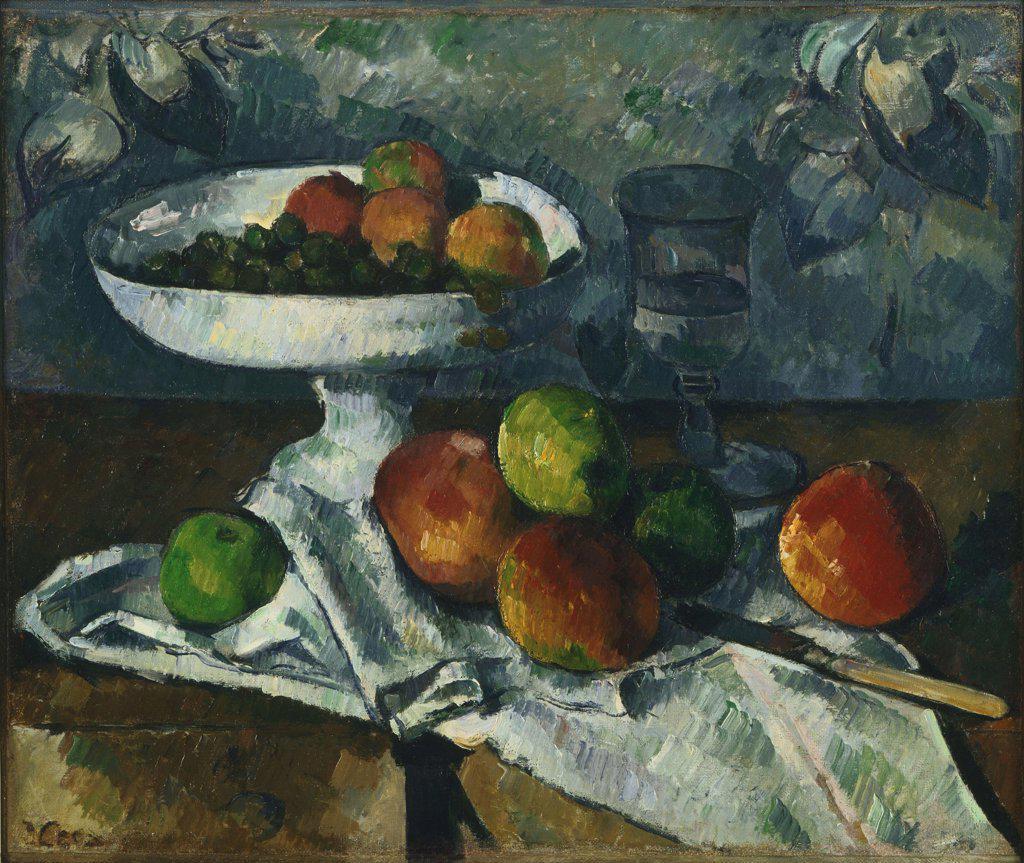 Still life by Paul Cezanne, Oil on canvas, 1879-1880, 1839-1906, Usa, New York City, Museum of Modern Art, 46,4x54,6 : Stock Photo