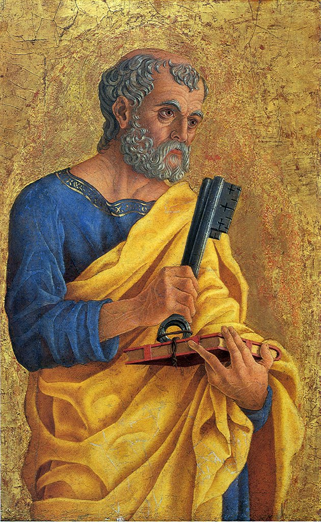 Stock Photo: 4266-6824 Portrait of Saint Peter by Marco Zoppo, Tempera on panel, 1468, 1433-1478, Usa, Washington, National Gallery of Art, 50,6x31,4