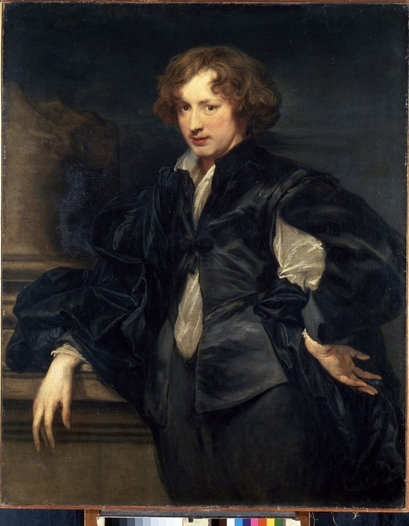 Self-portrait by Sir Anthonis van Dyck, Oil on canvas, 1622-1625, 1599-1641, Russia, St. Petersburg, State Hermitage, 116,5x93,5 : Stock Photo