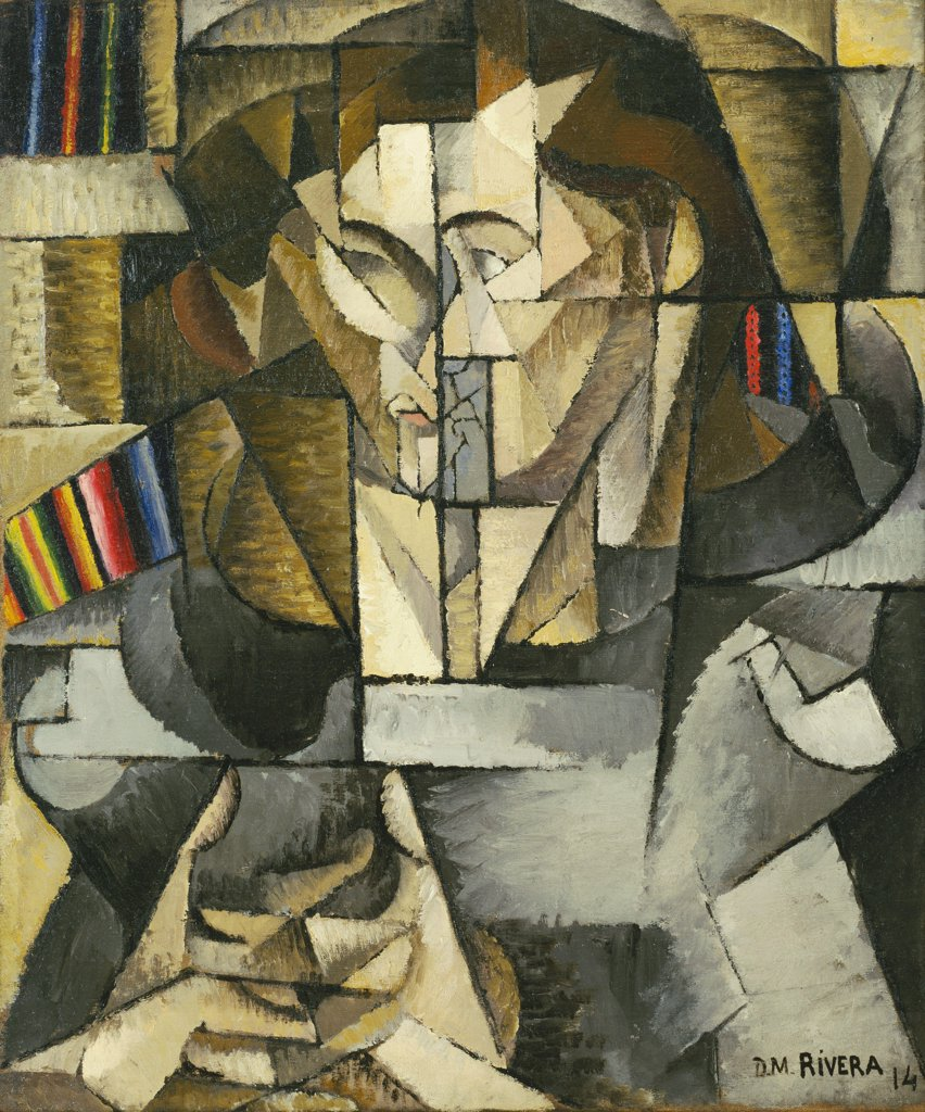 Stock Photo: 4266-6995 Rivera, Diego-Maria (1866-1957) © Museum of Modern Art, New York 1914 65,1x54,9 Oil on canvas Cubism Mexico