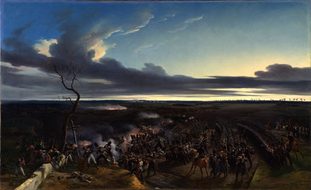Stock Photo: 4266-7181 Battle of Montmirail by Horace Vernet, Oil on canvas, 1822, 1789-1863, Great Britain, London, National Gallery, 178,4x290