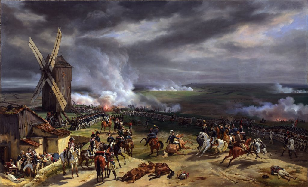 Stock Photo: 4266-7182 Battle of Valmy by Horace Vernet, Oil on canvas, 1826, 1789-1863, Great Britain, London, National Gallery, 174,6x287
