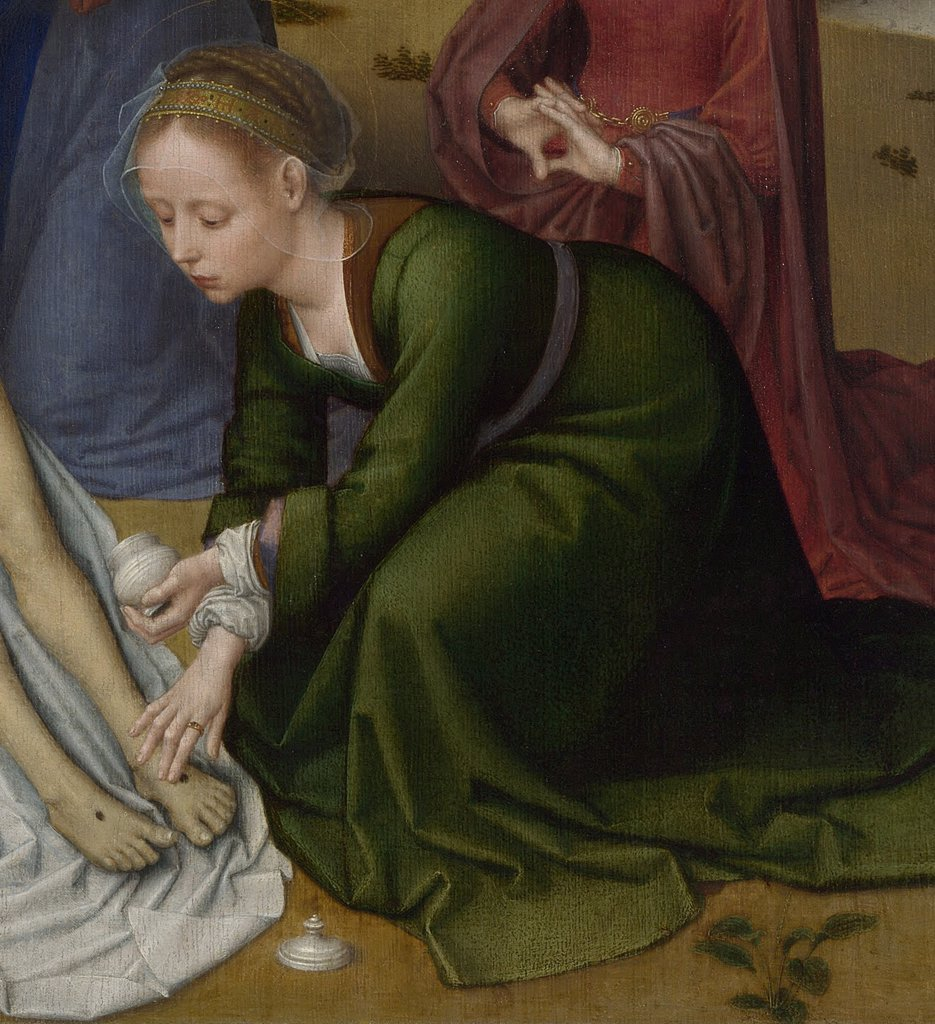 Stock Photo: 4266-7193 Illustration with Mary Magdalene by Gerard David, Oil on wood, 1515-1523, circa 1460-1523, Great Britain,, London, National Gallery
