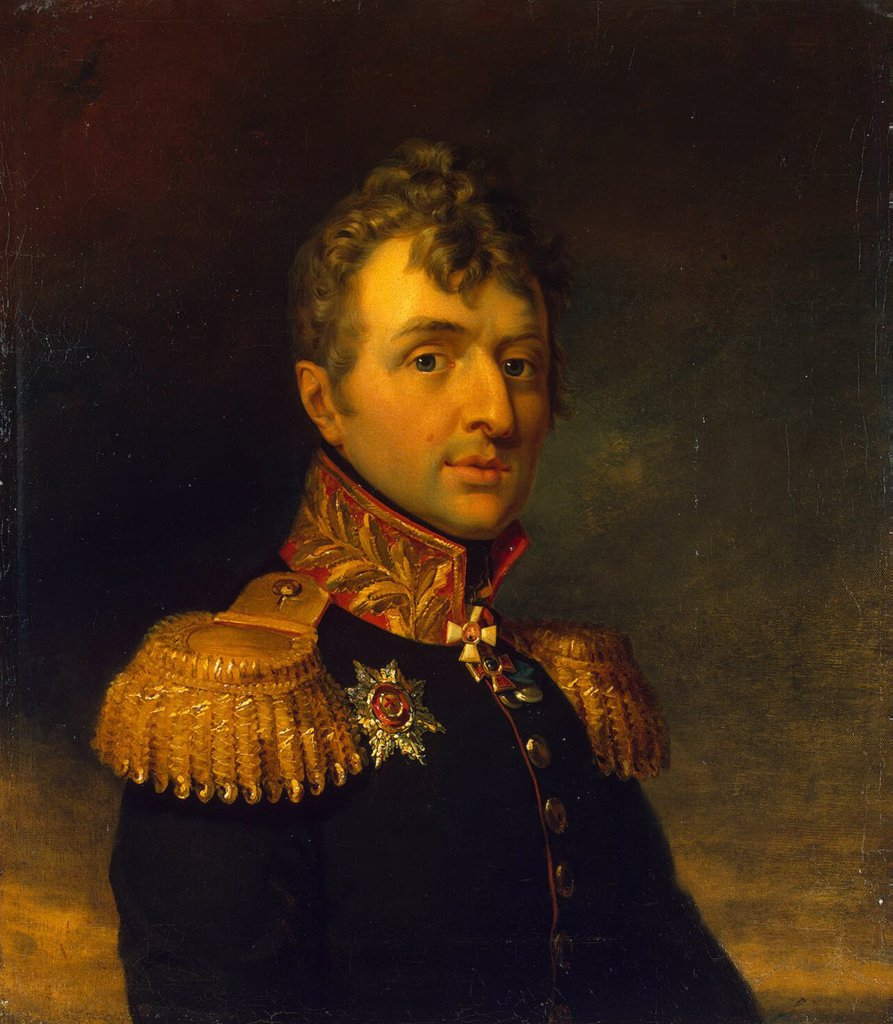 Portrait of general by George Dawe, Oil on canvas, before 1825, 1781-1829, Russia, St. Petersburg, State Hermitage, 70x62,5 : Stock Photo