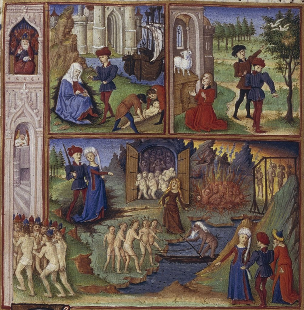 Stock Photo: 4266-7498 Life and death by Coetivy Master, Watercolor on parchment, 1450-1499, active circa 1450-1485, Usa, California, The Huntington,