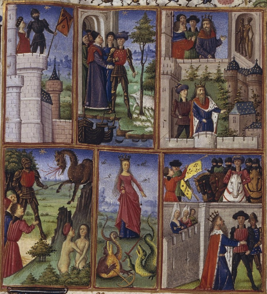 Life scenes by Coetivy Master, Watercolor on parchment, 1450-1499, active circa 1450-1485, Usa, California, The Huntington, : Stock Photo