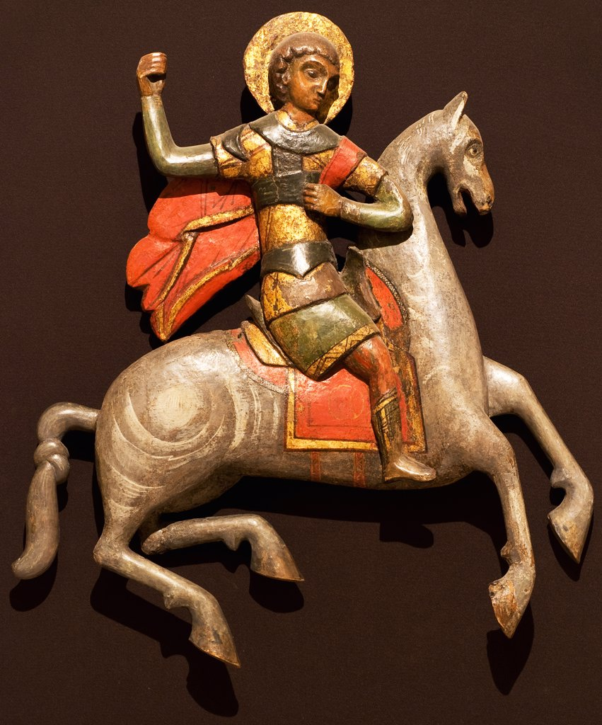 Stock Photo: 4266-7579 Saint George by anonymous artist, Wood, tempera, 16th century, Russia, Vologda, Art Regional Art Gallery, 64,5x57,3