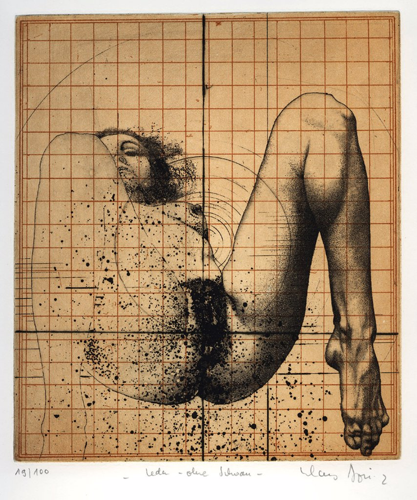 Boettger, Klaus (1942-1992) Private Collection 1972 Aquatint Modern Germany Nude  : Stock Photo
