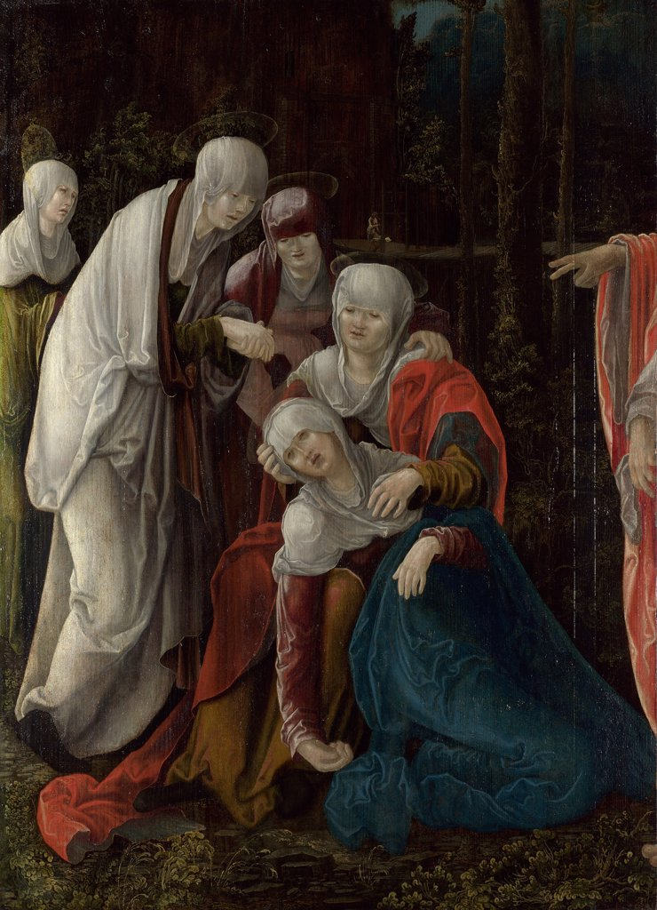 Stock Photo: 4266-7663 Religious illustration with Mary Magdalene by Wolf Huber, Oil on wood, circa 1520, 1480/5-1553, Great Britain, London, National Gallery, 95,5x68,2