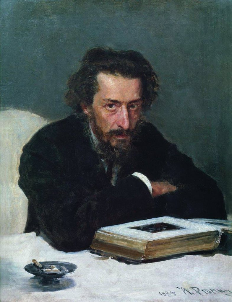 Stock Photo: 4266-7866 Portrait of Pavel Blaramberg by Ilya Yefimovich Repin, Oil on canvas, 1884, 1844-1930, Russia, Moscow, State Tretyakov Gallery, 78x60