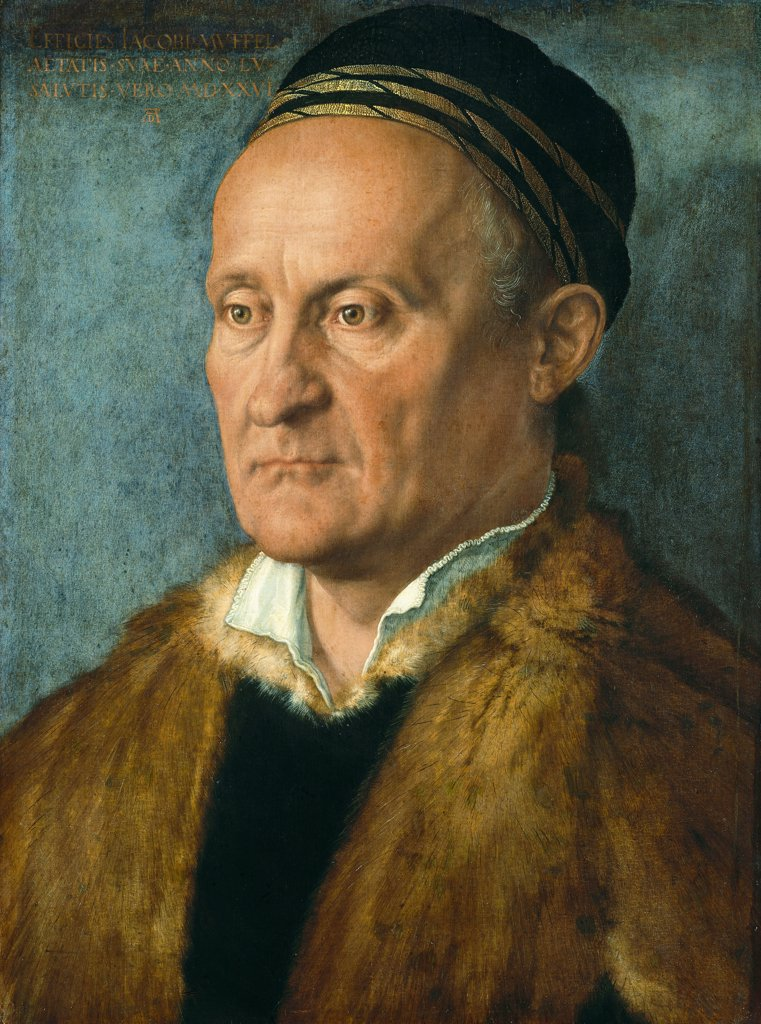 Stock Photo: 4266-7914 Portrait of Jakob Muffel by Albrecht Durer, Oil on canvas, 1526, 1471-1528, Germany, Berlin, Staatliche Museen, 36x48