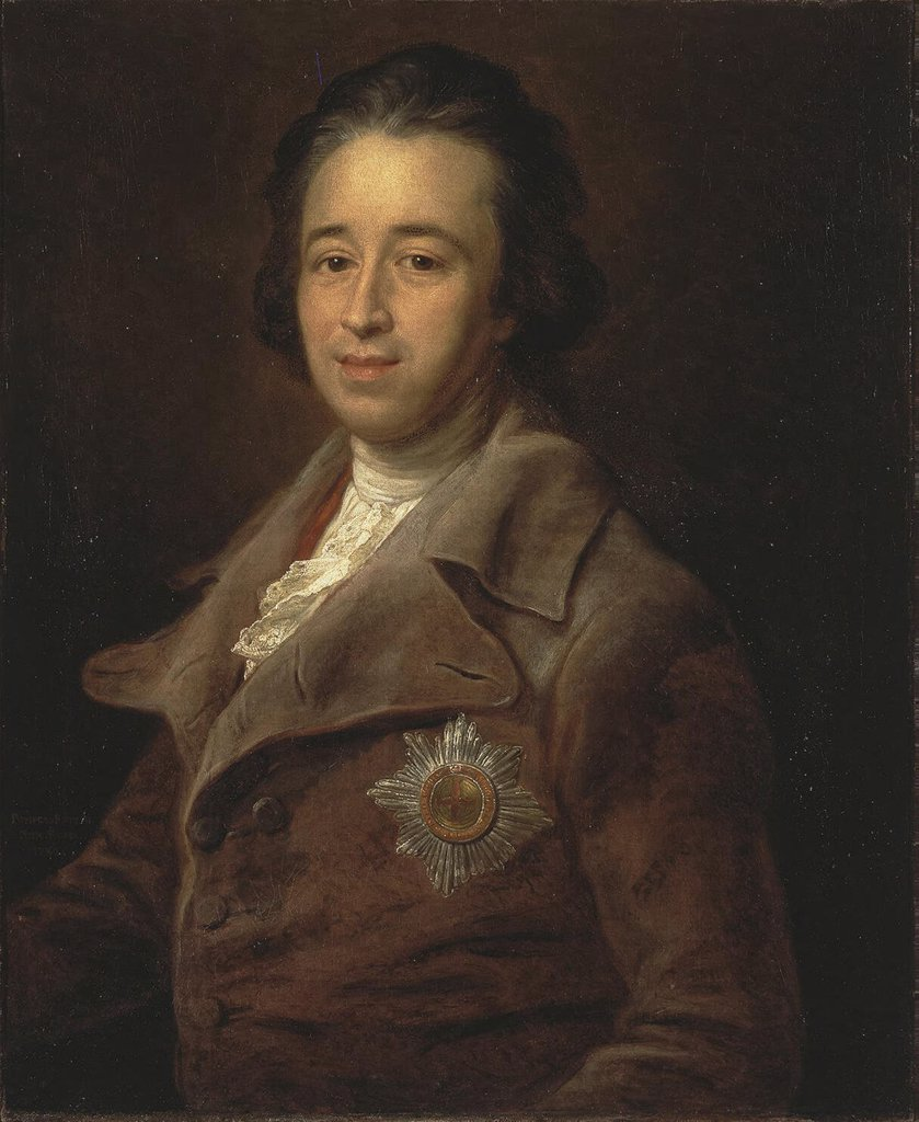 Portrait of Alexander Kurakin by Pompeo Girolamo Batoni, Oil on canvas, 1782, 1708-1787, Russia, St. Petersburg, State Hermitage, 74x62 : Stock Photo