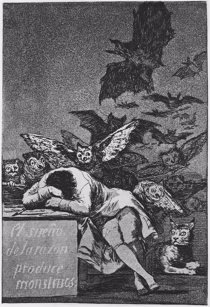 Stock Photo: 4266-8671 Illustration from Los Caprichos set by Francisco de Goya, Etching, 1797-1798, 1746-1828, Russia, St. Petersburg, State Hermitage, 21, 5x15