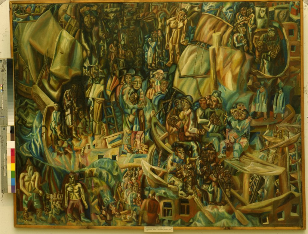 Stock Photo: 4266-8704 Filonov, Pavel Nikolayevich (1883-1941) State Tretyakov Gallery, Moscow 1913-1915 117x154 Oil on canvas Analytical Russia Mythology, Allegory and Literature