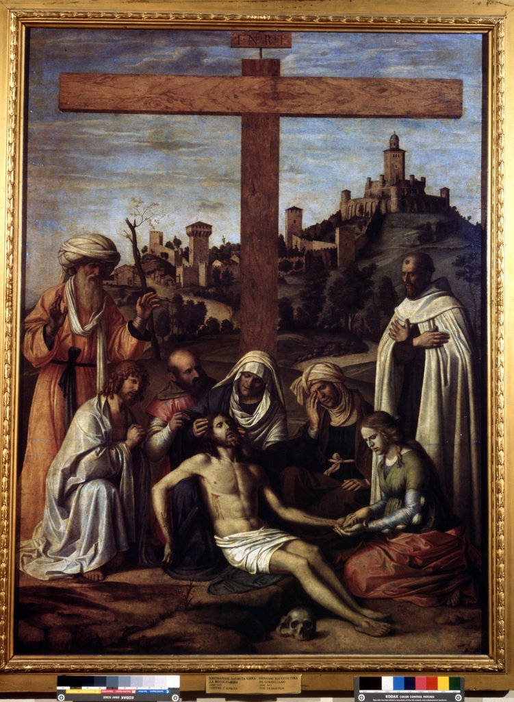 Stock Photo: 4266-8718 Descent from cross by Giovanni Battista Cima da Conegliano, Oil on canvas, circa 1510, circa 1459-1517, Russia, Moscow, State A. Pushkin Museum of Fine Arts, 199x148