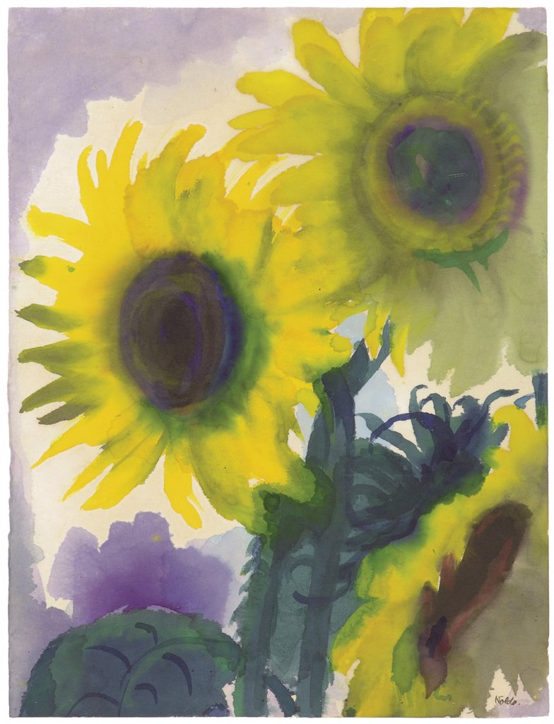 Stock Photo: 4266-8837 Nolde, Emil (1867-1956) Private Collection c. 1930 Watercolour on paper Expressionism Germany