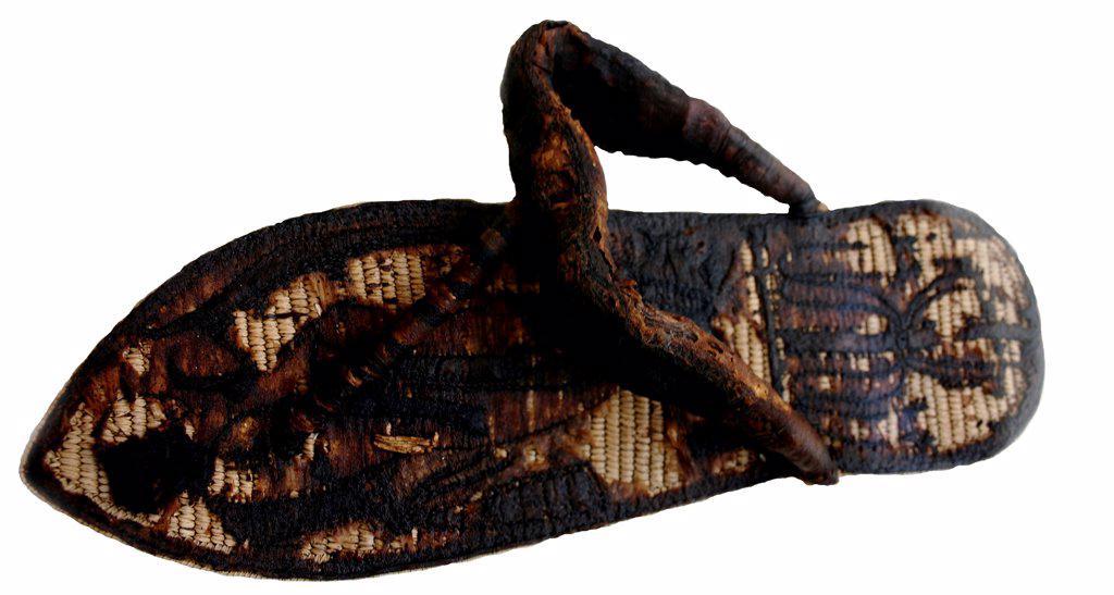 Stock Photo: 4266-8864 Sandal from Treasure of Tutankhamen, Egypt, Cairo, The Egyptian Museum