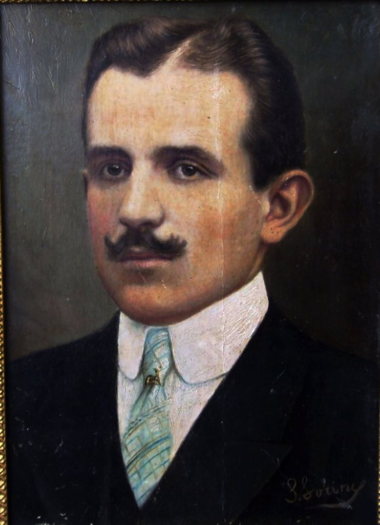 Portrait of Cyril Vladimirovich by anonymous artist, painting, Private Collection : Stock Photo