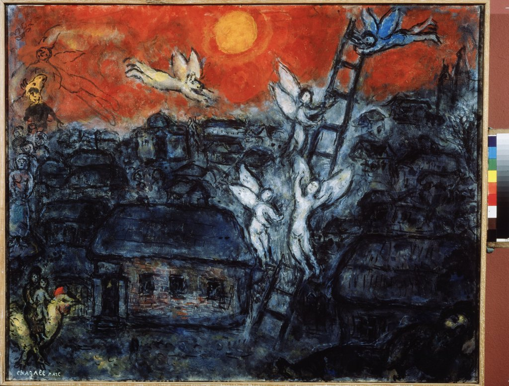 Stock Photo: 4266-9091 Chagall, Marc (1887-1985) Private Collection 1973 73x92 Oil on canvas Modern Russia Bible