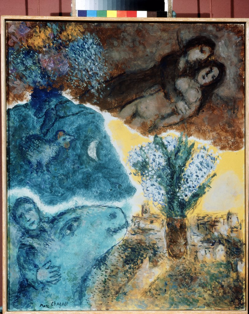 Stock Photo: 4266-9180 Chagall, Marc (1887-1985) Private Collection 1976 65x54 Oil on canvas Modern Russia