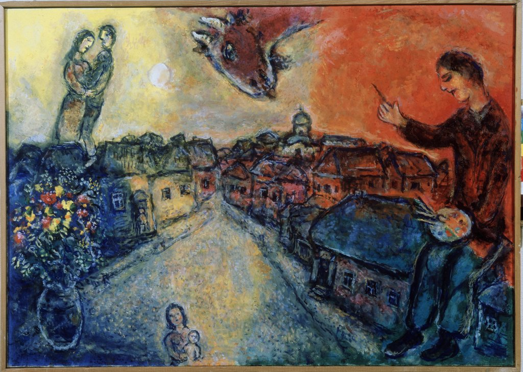 Stock Photo: 4266-9202 Chagall, Marc (1887-1985) Private Collection 1977-1978 65x92 Oil on canvas Modern Russia