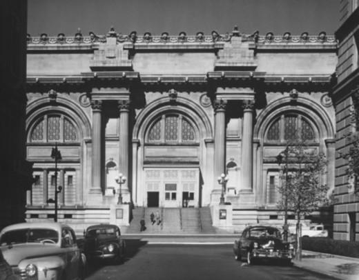 Metropolitan Museum of Art, New York City, (B&W) : Stock Photo