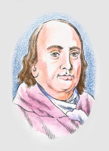 Illustration of Benjamin Franklin : Stock Photo