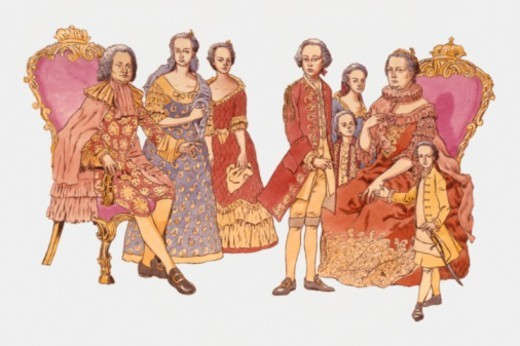 Stock Photo: 4268R-10402 Illustration of Rudolph of Habsburg and family
