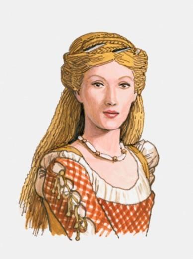 Illustration of Lucrezia Borgia : Stock Photo