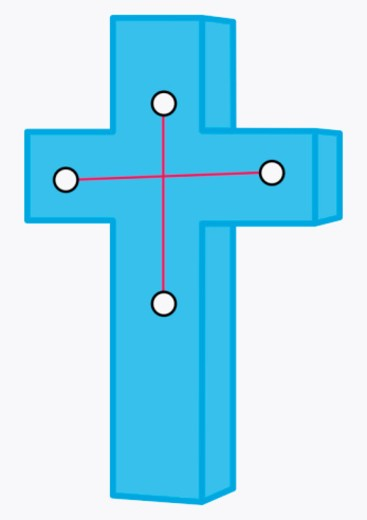 Stock Photo: 4268R-11109 Illustration of Crux constellation represented as cross