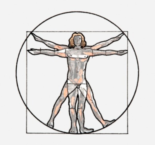 Illustration of Vitruvian man symbol : Stock Photo
