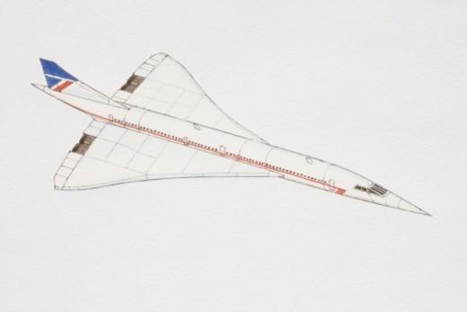 Concorde airplane. : Stock Photo