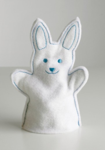 Stock Photo: 4268R-13120 Rabbit hand puppet