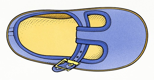 Illustration of child's comfortable shoe : Stock Photo