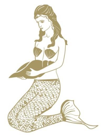 Stock Photo: 4268R-14392 Digital illustration of mermaid, a mythical half fish, half human sea creature