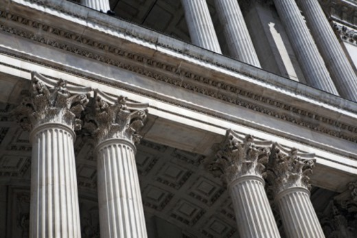 Great Britain, England, London, St. Paul's Cathedral, Corinthian columns, close-up : Stock Photo