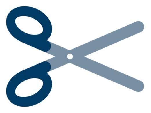 Digital illustration of blue scissors : Stock Photo