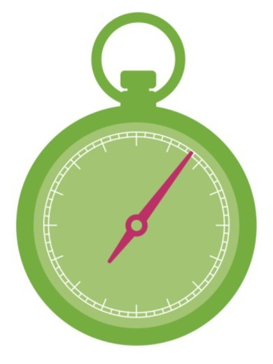Digital illustration of green stop watch : Stock Photo