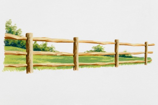 Wooden fence : Stock Photo