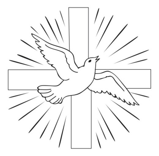 Holy spirit dove clipart black and white - photo#24