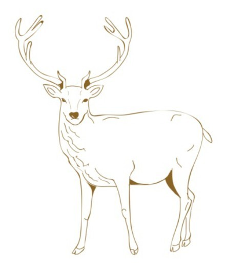 Stock Photo: 4268R-4542 Digital illustration of Dain, a stag associated with Norse mythology