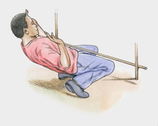 Illustration of male Caribbean limbo dancer : Stock Photo