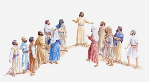 Stock Photo: 4268R-6135 Illustration of Jesus choosing his apostles, Gospel of Luke