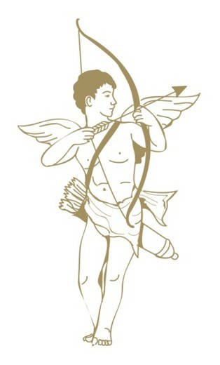 Digital illustration of Cupid, winged Roman god of love and beauty  : Stock Photo