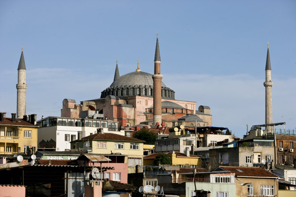 Saint Sophia (Hagia Sophia) mosque, formaly a christian basilica, Istanbul, Turkey. : Stock Photo