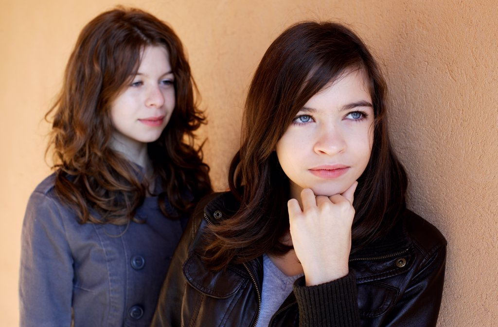 Stock Photo: 4269-13593 Portrait of two teenage girls.